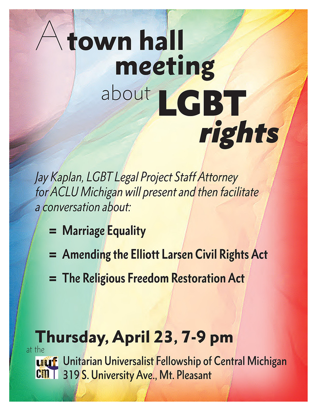 A Community Conversation About LGBT Rights: Town Hall Flyer