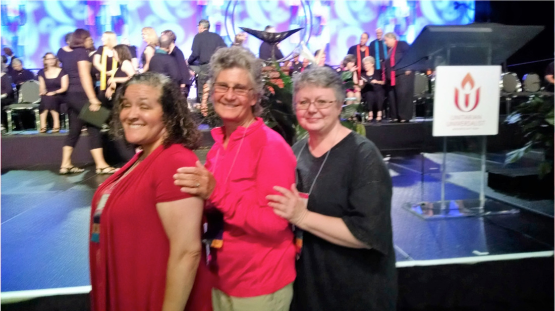 Annette Pratt, Mary Alsager and Dawn Daniels at GA2016